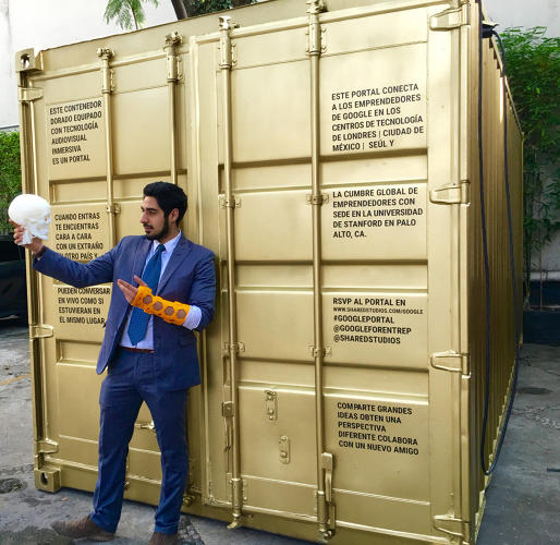 <p>So far, most of the Portals have been set up on  a temporary basis. But they hope to build something more permanent.</p>