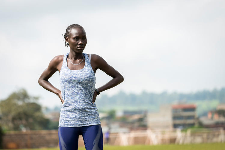 <p>Meet the all-refugee Olympic team: South Sudanese refugee Anjelina Nadai Lohalith will compete in the 1,500-meter run.</p>