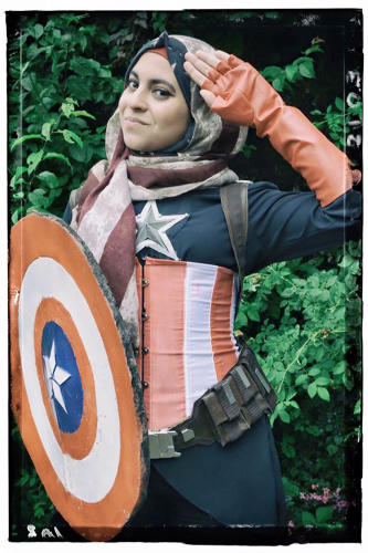<p>Cosplayer Hijabi Hooligan puts her unique spin on the Star-Spangled Avenger.</p>