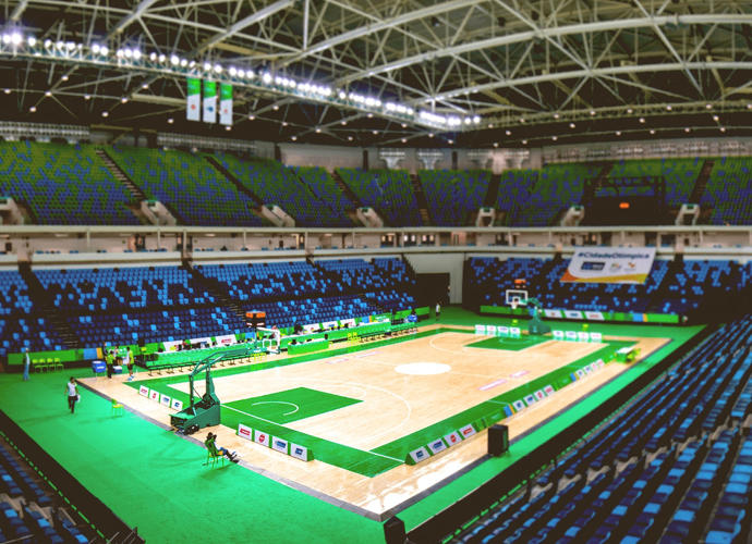 <p>Cariocas Arena 1, where the basketball matches will be held.</p>
