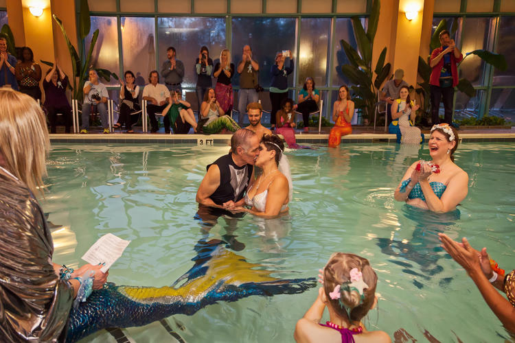 <p>Mermaid matrimony, Merfest. Cary, North Carolina 2015</p>