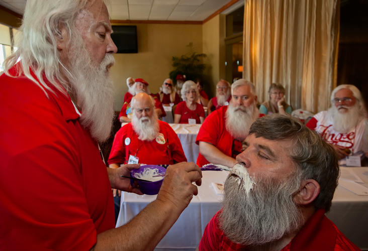 <p>Beard bleaching, Santa Celebration. Tampa, Florida 2014</p>