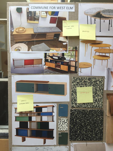 <p>The designers looked to some of their favorite midcentury pieces to inform the collection.</p>