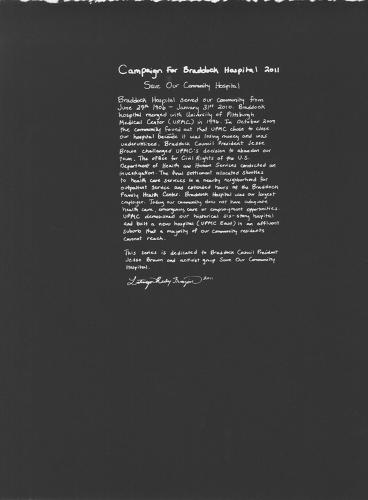 <p>LaToya Ruby Frazier, <em>Statement</em>.</p>