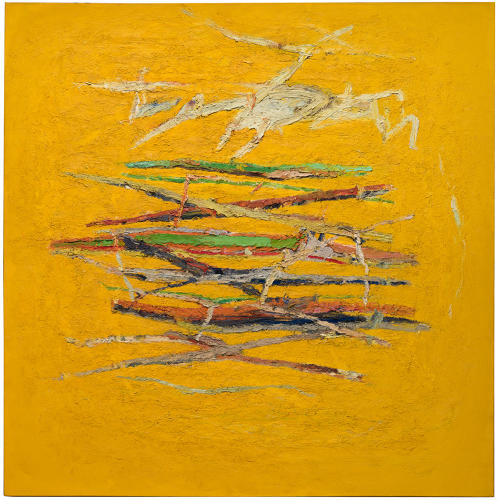 <p>One of Irwin's line paintings, <em>Ocean Park</em>, 1960–61.</p>