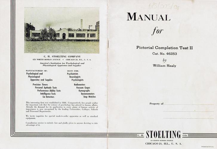<p>Pictorial Completion Test</p>