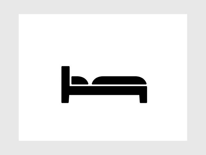 <p>The icon for bed, or a place to sleep.</p>