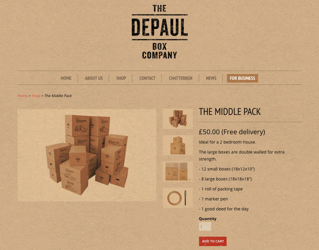 <p>DePaul UK for its DePaul Box Co initiative created by Publicis</p>