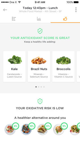 <p>Over time, it sends you customized diet recommendations (Co.Exist has not gotten to test how accurate its recognition or suggestions seem.)</p>
