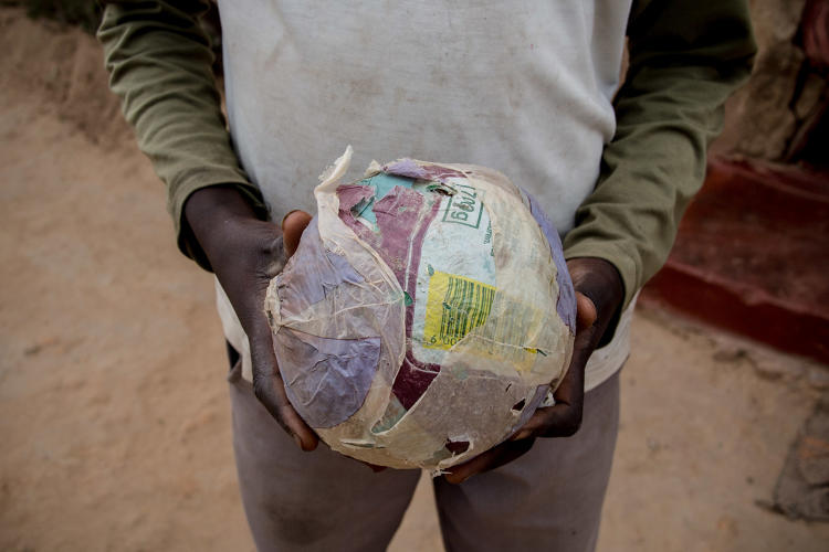 <p>Dollar Street documents the everyday objects of families at all different income levels around the world. This is a soccer ball in Zimbabwe.</p>