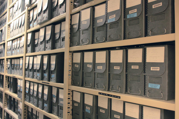 <p>The acid-free paper boxes used for archival storage are made to last for at least 300 years and have to comply with the Library of Congress standards.</p>