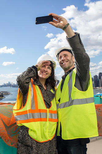 <p>Fast Company Innovation Festival attendees soaked up the sunshine and the views.</p>