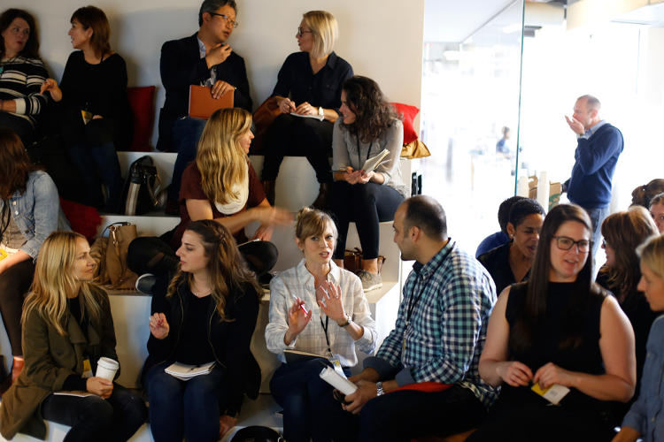 <p>Fast Company Innovation Festival attendees share with each other how they ranked their personal values.</p>