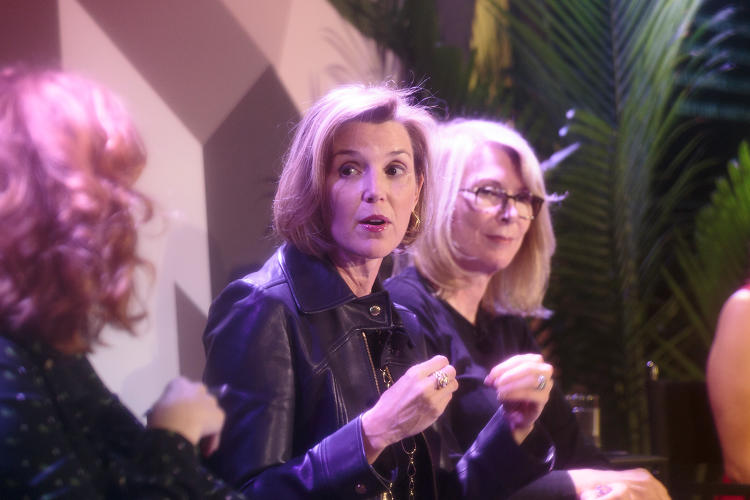<p>Ellevest's Sallie Krawcheck (center) at the Fast Company Innovation Festival.</p>