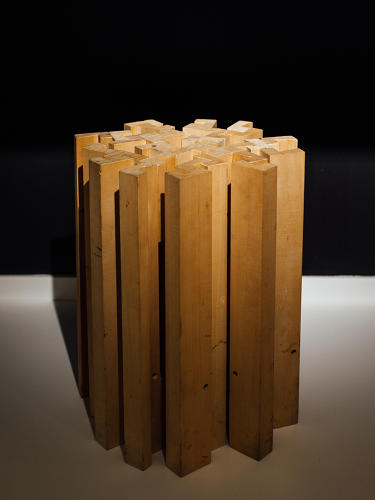 <p>A stool at the architecture firm Snohetta, likely custom-designed</p>