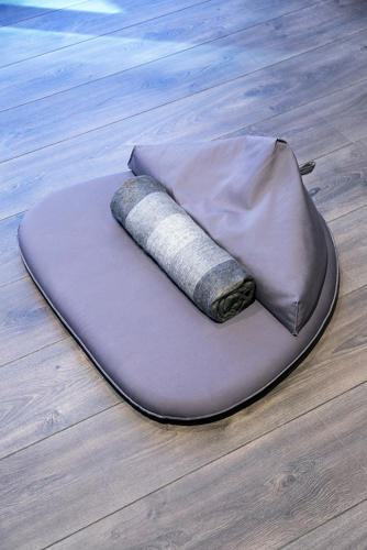 <p>Bean bag cushions designed by Jeffrey Bernett for Inscape</p>
