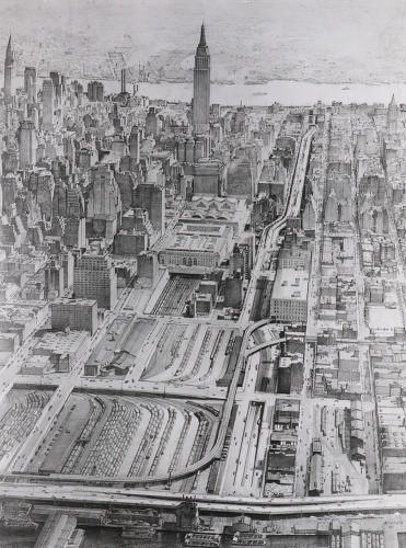 <p>Mid-Manhattan expressway proposed by Robert Moses</p>