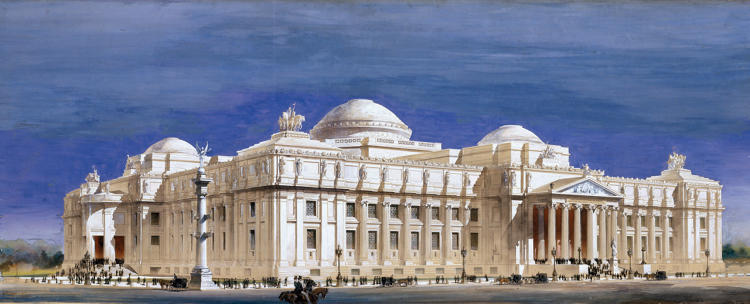 <p>Brooklyn Museum by McKim, Mead, and White c. 1893</p>