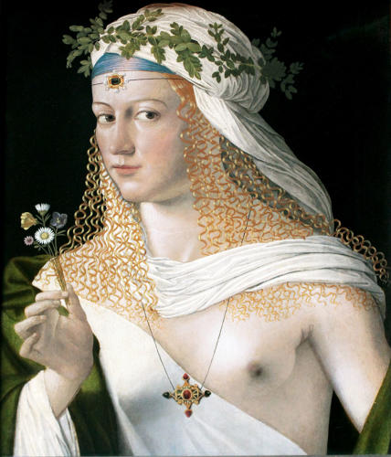 <p>Portrait of Lucrezia Borgia (1520) by Bartolomeo Bartolomeo Veneto. Her infamy as a poisoner was exaggerated by her rivals and conservative Victorians.</p>