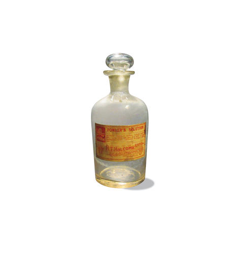<p>Fowler's solution, a health tonic that contained arsenic, which was said to have beneficial effects.</p>