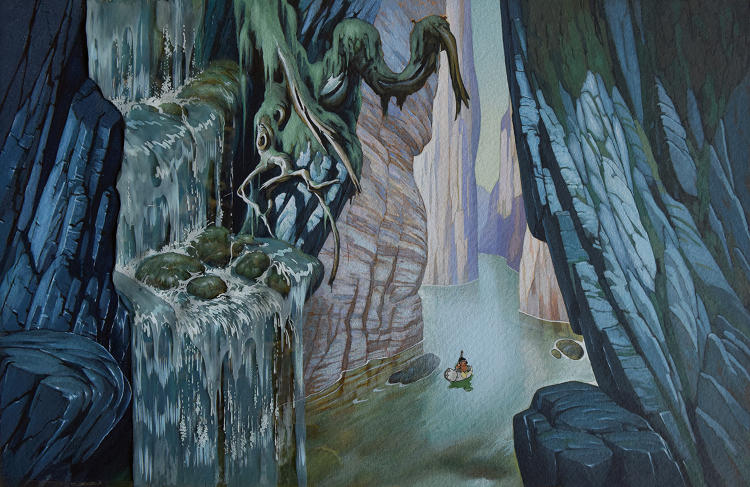<p>A lovely Gustaf Tenggren concept painting for Little Hiawatha (1937).</p>
