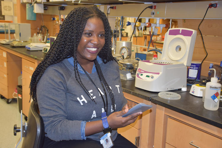 <p>Liz Wayne researches delivering genetic material to diseased cells to treat cancer.</p>