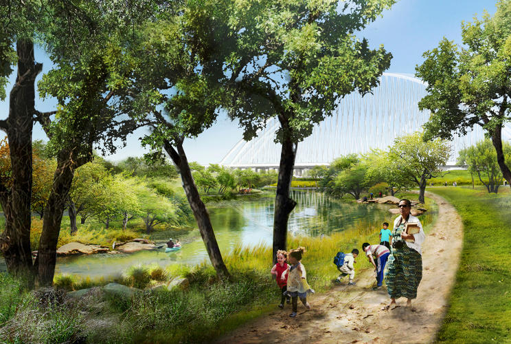 <p>The proposal to convert the Trinity River floodplain into a functional nature district extends far beyond the funded 285-acre site.</p>