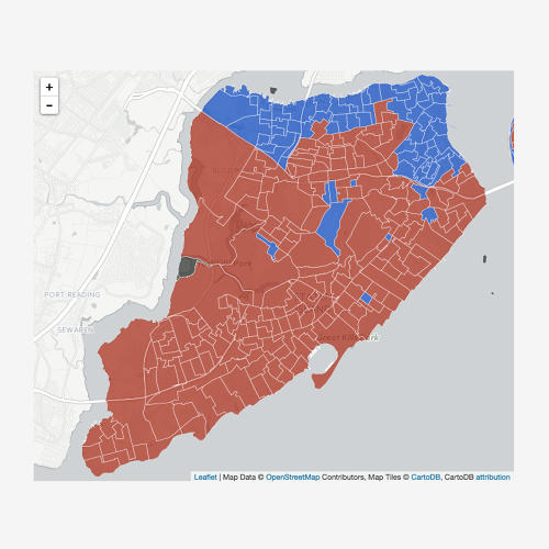<p>Staten Island Trump support in red.</p>