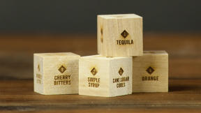 Roll These Wooden Dice To Be A (Foolproof) Mixologist