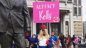 This Amazing Kellyanne Cosplay Has Other Protesters Shook