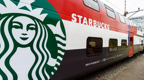 This Train Is Hiding A Full Starbucks Store Inside