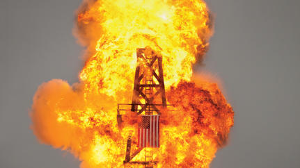 Photo Issue 2010: Oil Cos. Play With Fire in Iraq, Dan Winters Starts One in His Backyard