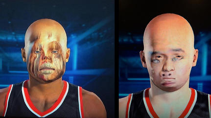 Glitch Or Art: NBA 2K15's Face Scan Fails