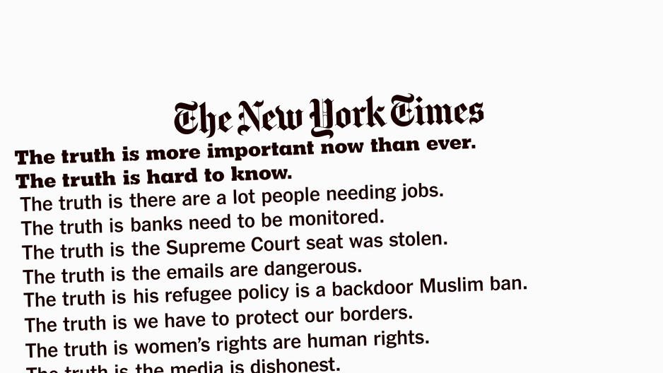 """The New York Times' First-Ever Oscars Ad Is All About """"The Truth"""""""