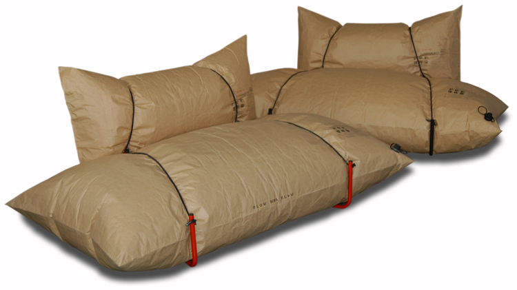 Created By Polandu0027s Malafor, The Couch Is Constructed From Two 100  Percent Recycled Dunnage Bags, The Blow Up Reinforced Kraft Paper Buffers  You Use For ...