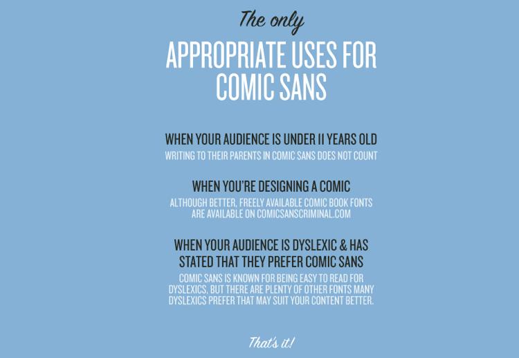 Comic Sans Is a Galactic Menace