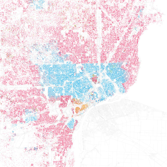 Infographics Of The Day How Segregated Is Your City CoDesign - Us map with race concentrations