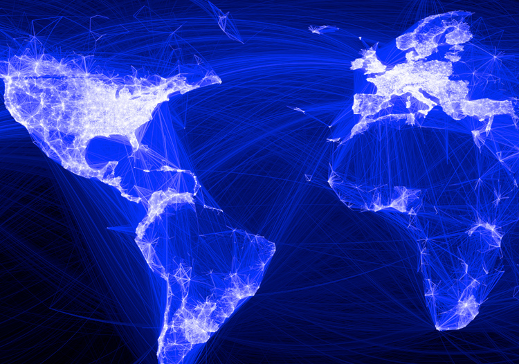 Infographic Of The Day The Facebook Map Of The World - World internet usage map