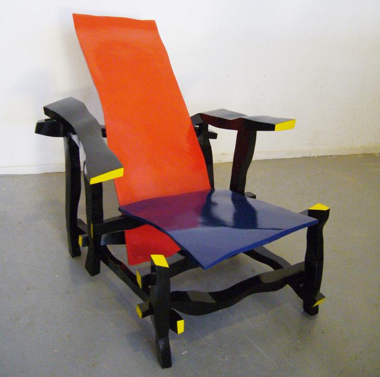 right handed designer reinterprets rietveld s most famous chair left