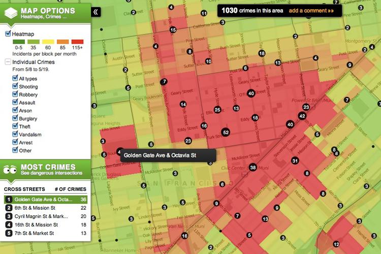 San Francisco Safe Neighborhood Map Michigan Map