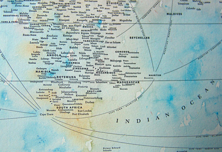 Wanted a typographic map of the world the global maps shown here are a promising antidote created by chicago designer nancy mccabe they strip down the geography of the world to virtually gumiabroncs Gallery