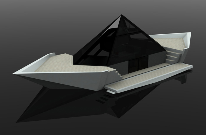 A Yacht Inspired By The Paper Boats Of Children