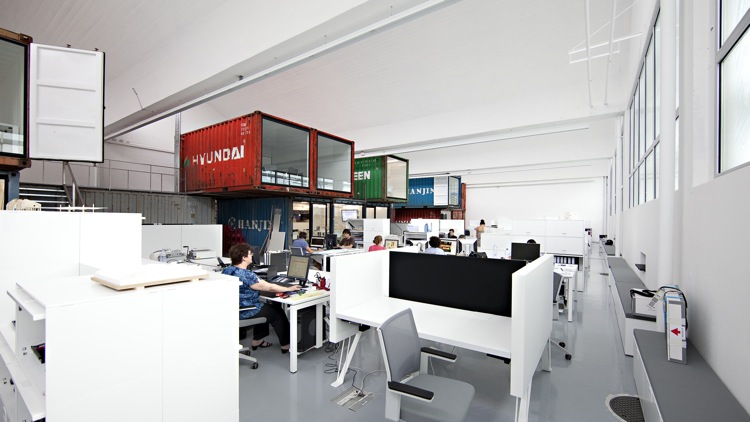 Eye Candy Shipping Containers Grunge Up Stark Modern Office