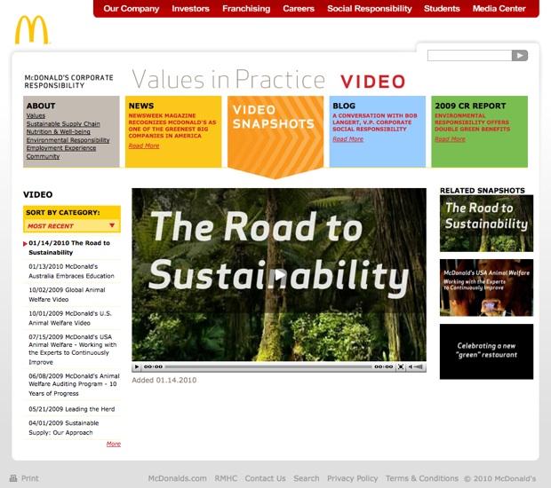 mcdonalds sustainability