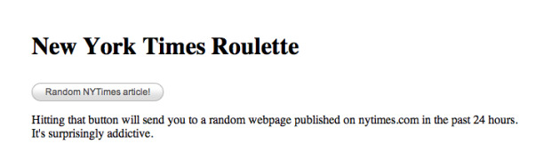 New York TimesRoulette