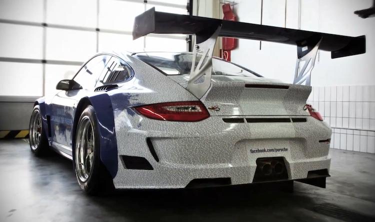 Porsche Puts Names Of 1 Million Facebook Fans On A 911