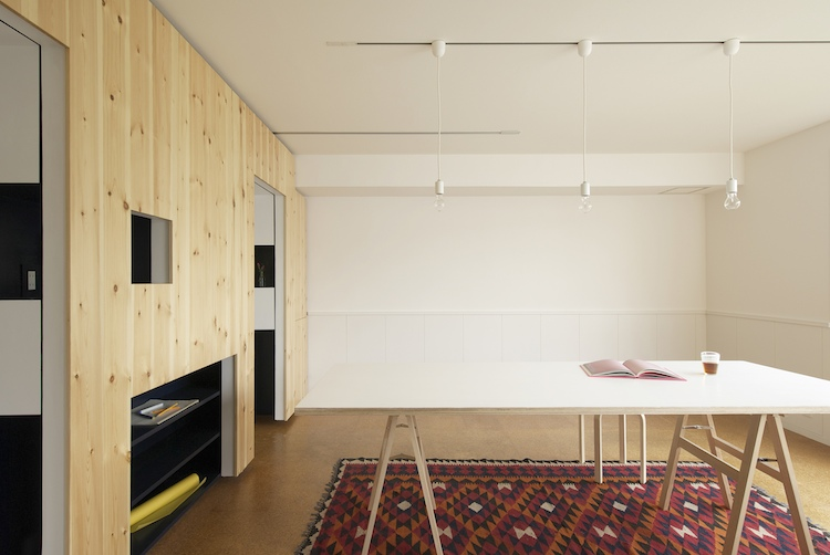 Sliding Walls Turn Tiny Apartment Into Home Office And Back