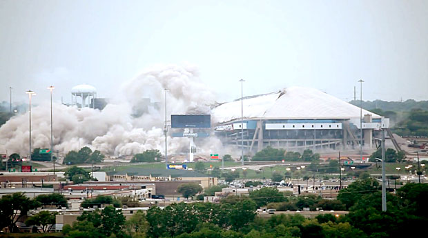 Texas Stadium implosion