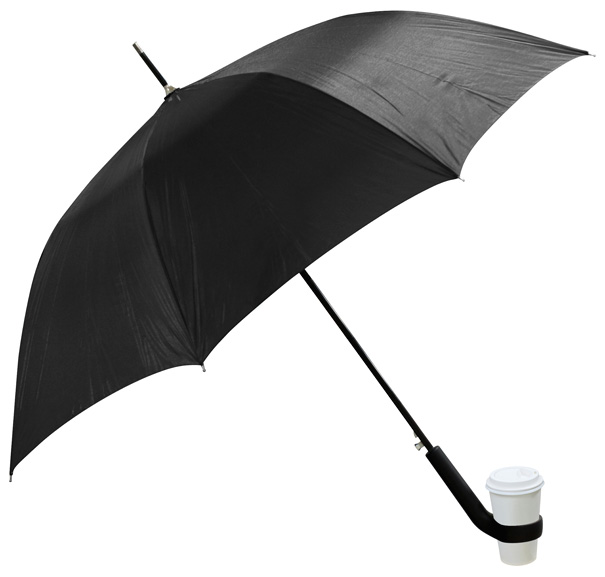 Umbrella with cup holder