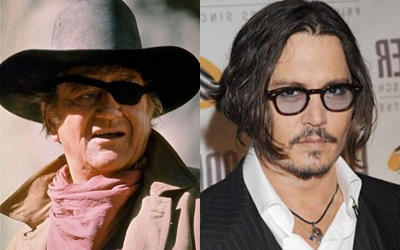 John Wayne and Johnny Depp